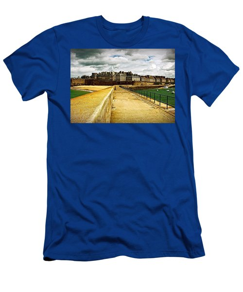 Men's T-Shirt (Slim Fit) featuring the photograph Walkway To Intra Muros by Elf Evans