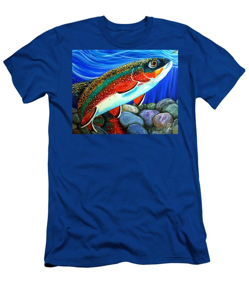 Brook Trout  Men's T-Shirt (Slim Fit) by Jackie Carpenter