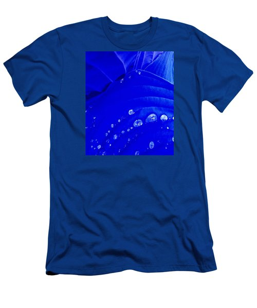 Men's T-Shirt (Slim Fit) featuring the photograph Water Droplets  by Carolyn Repka