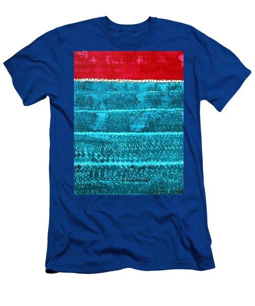 Waves Original Painting Men's T-Shirt (Athletic Fit)