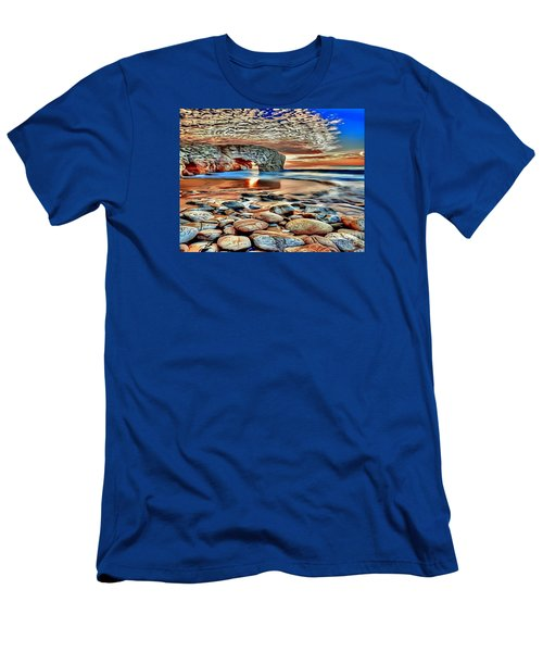 Weighed In Stone Men's T-Shirt (Slim Fit) by Catherine Lott