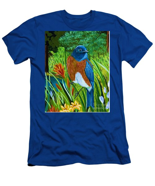 Western Bluebird Men's T-Shirt (Athletic Fit)