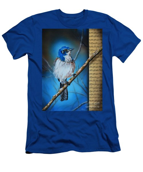 Western Scrub Jay Men's T-Shirt (Athletic Fit)
