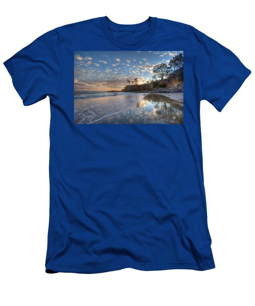 Wet Sand Reflections Laguna Beach Men's T-Shirt (Athletic Fit)