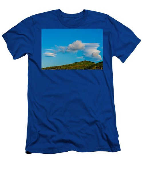 White Clouds Form Tornado Men's T-Shirt (Athletic Fit)