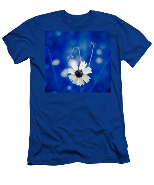 White Flower Men's T-Shirt (Athletic Fit)