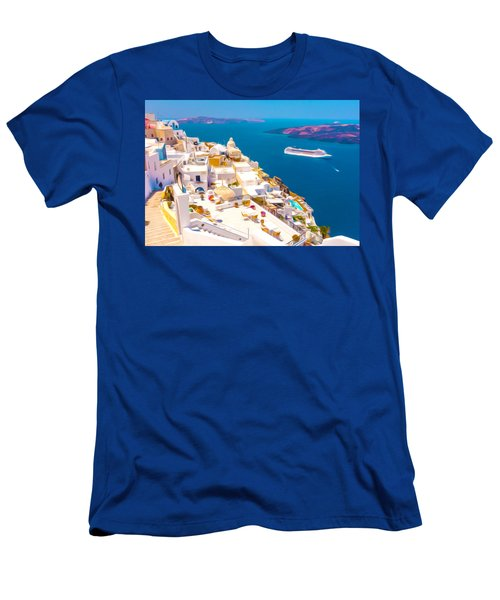 White Houses Of Santorini Men's T-Shirt (Athletic Fit)