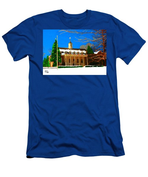Whittle Hall At Christmas Men's T-Shirt (Athletic Fit)