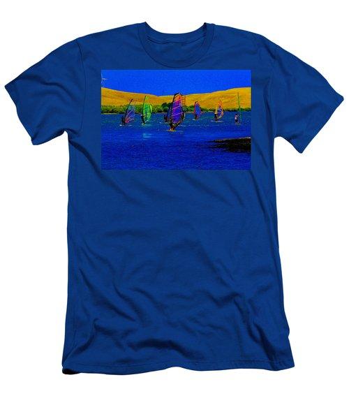 Wind Surf Lessons Men's T-Shirt (Athletic Fit)