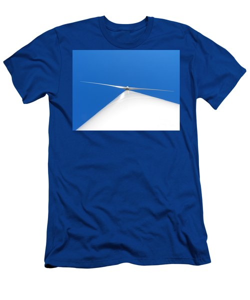 Wind Turbine Blue Sky Men's T-Shirt (Athletic Fit)
