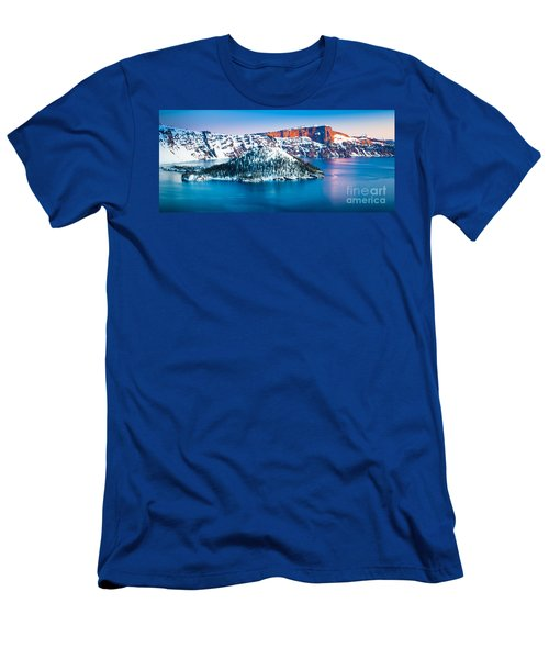 Winter Morning At Crater Lake Men's T-Shirt (Athletic Fit)