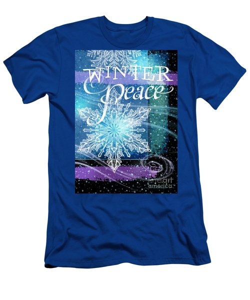 Winter Peace Greeting Men's T-Shirt (Slim Fit)