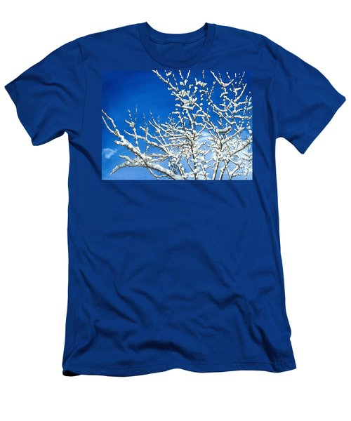 Men's T-Shirt (Slim Fit) featuring the painting Winter's Artistry by Barbara Jewell