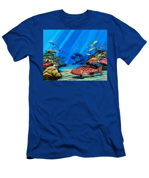 Yellowfin Grouper Wreck Men's T-Shirt (Athletic Fit)