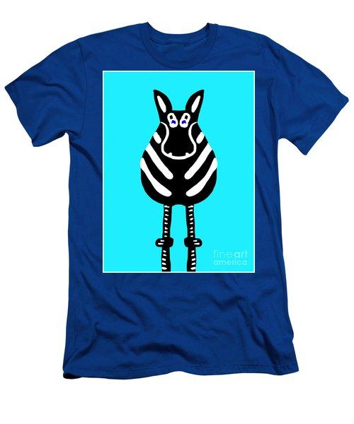 Zebra - The Front View Men's T-Shirt (Athletic Fit)