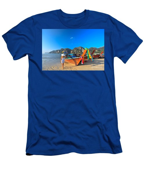 Boats At Phi Phi Island Men's T-Shirt (Athletic Fit)