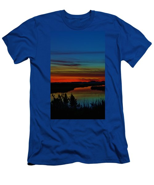 Deep Marshland Sunset Men's T-Shirt (Athletic Fit)