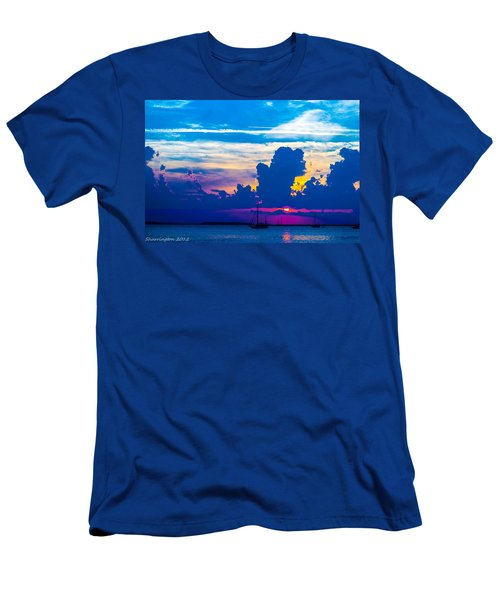 The Purple Sunset Men's T-Shirt (Athletic Fit)