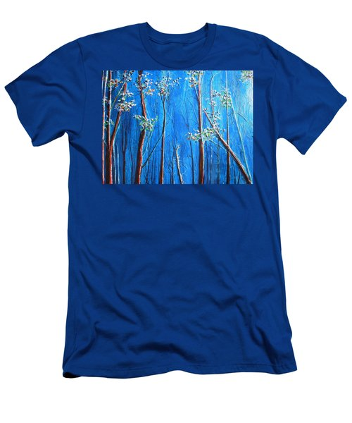 Men's T-Shirt (Slim Fit) featuring the painting Waiting by Dan Whittemore