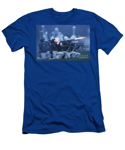 American Night Battle Men's T-Shirt (Athletic Fit)