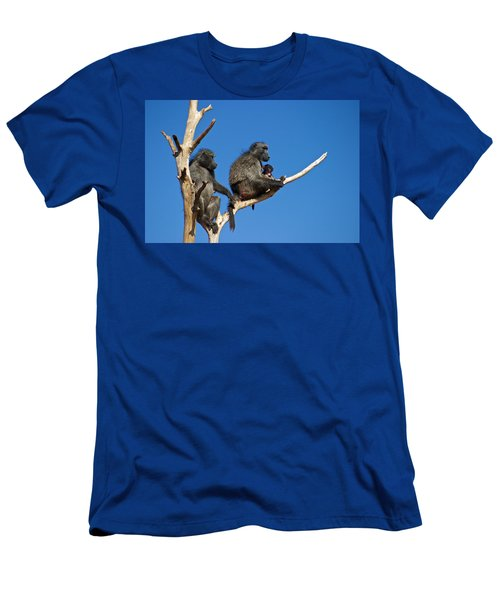 Baboon Family Namibia Men's T-Shirt (Athletic Fit)
