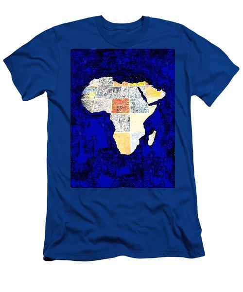 Blue Africa Men's T-Shirt (Slim Fit) by Anne Mott