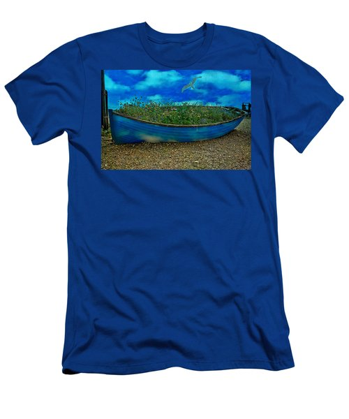 Men's T-Shirt (Slim Fit) featuring the photograph Blue Sky Boat  by Chris Lord