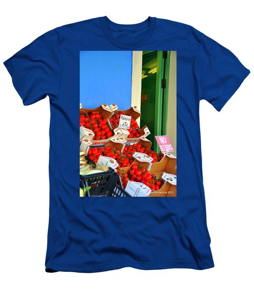 Burano Red Tomatoes Men's T-Shirt (Athletic Fit)