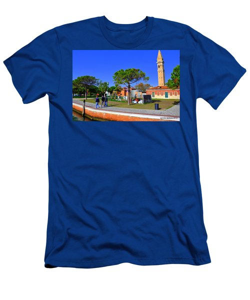 Burano Tower Men's T-Shirt (Athletic Fit)
