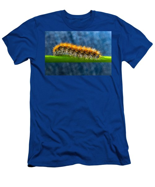 Butterfly Caterpillar Larva On The Stem Men's T-Shirt (Athletic Fit)