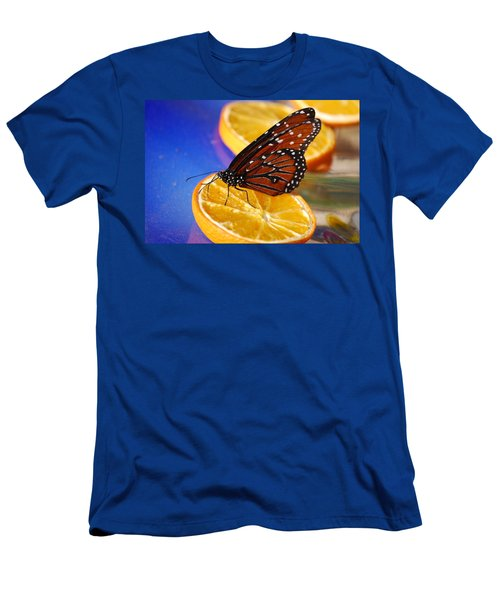 Men's T-Shirt (Slim Fit) featuring the photograph Butterfly Nectar by Tam Ryan