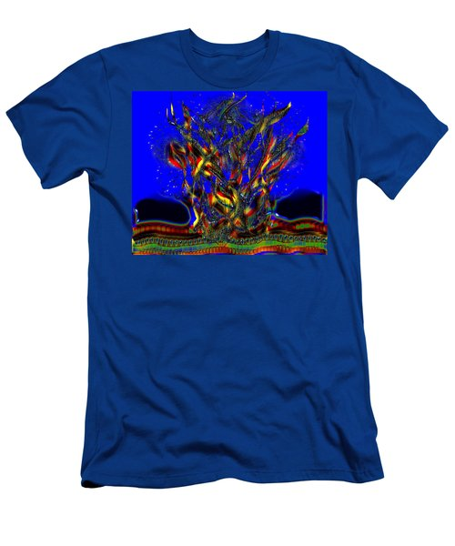 Men's T-Shirt (Slim Fit) featuring the digital art Camp Fire Delight by Alec Drake
