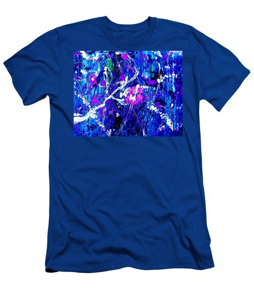 Men's T-Shirt (Athletic Fit) featuring the painting Cherry Blossom Explosion by Michelle Dallocchio