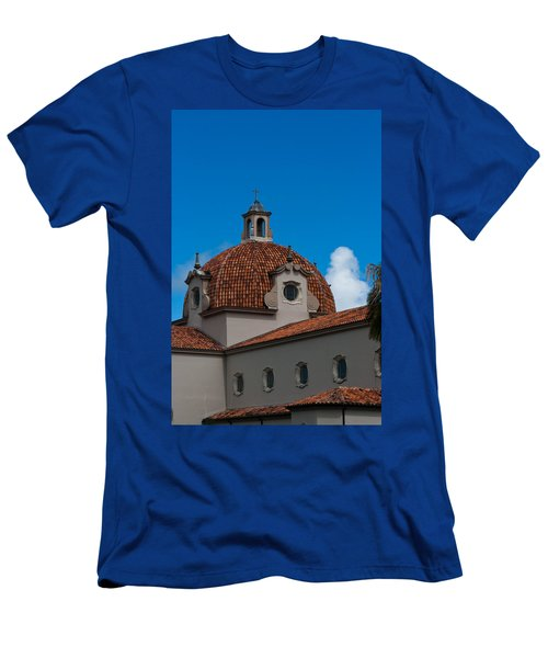 Men's T-Shirt (Slim Fit) featuring the photograph Church Of The Little Flower Dome And Cross by Ed Gleichman