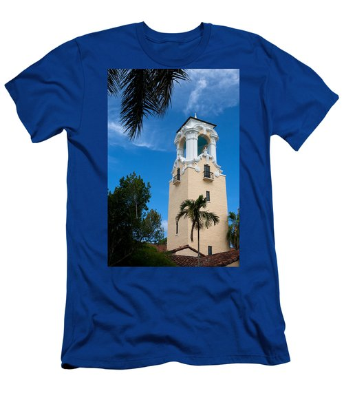 Men's T-Shirt (Slim Fit) featuring the photograph Congregational Church Of Coral Gables by Ed Gleichman