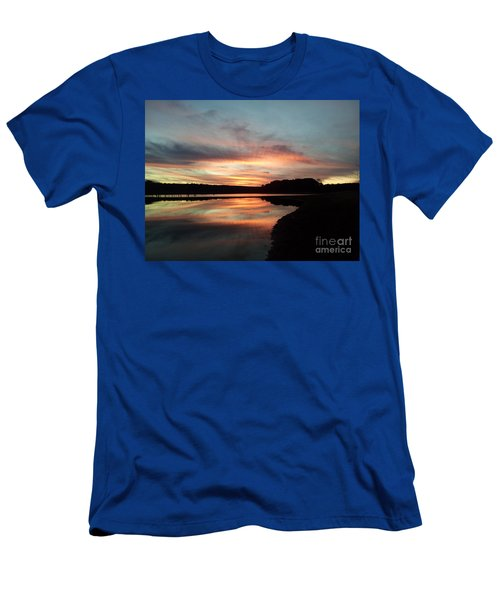 December Sunset At Lake Juliette Men's T-Shirt (Athletic Fit)