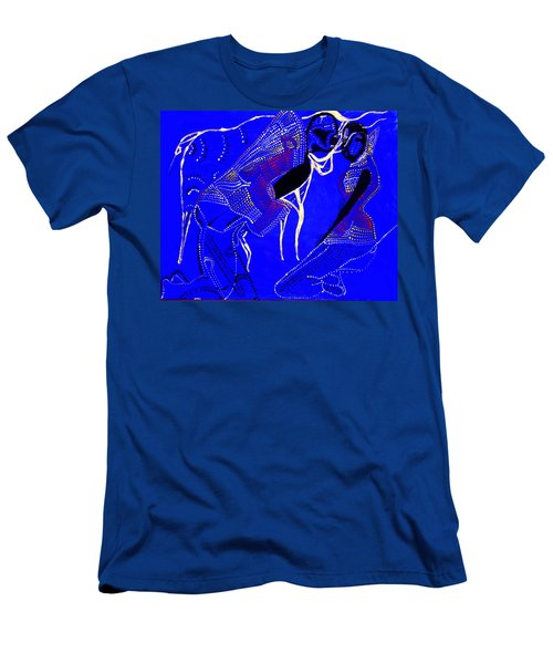 Men's T-Shirt (Slim Fit) featuring the painting Dinka Marriage by Gloria Ssali