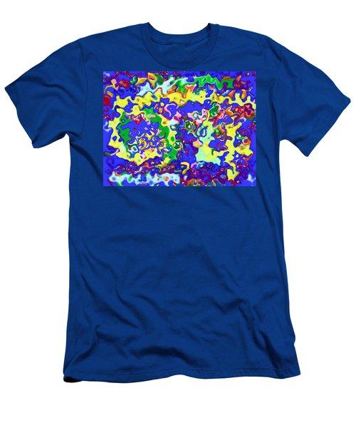 Men's T-Shirt (Slim Fit) featuring the digital art Fiesta In San Antonio by Alec Drake