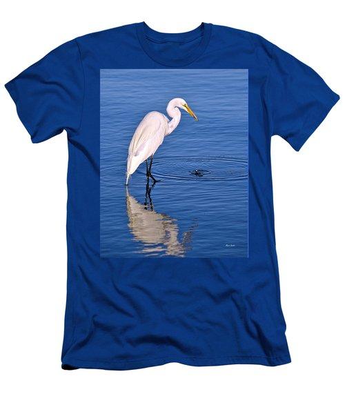 Great Egret With Shrimp Men's T-Shirt (Athletic Fit)