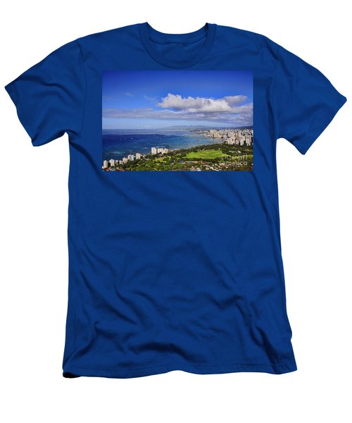 Honolulu From Diamond Head Men's T-Shirt (Athletic Fit)