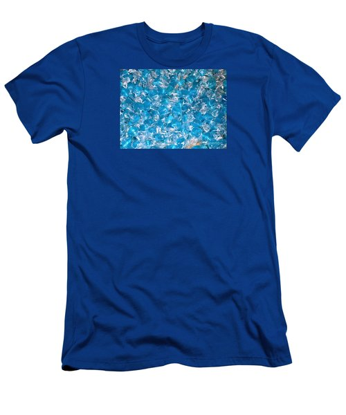 Men's T-Shirt (Slim Fit) featuring the photograph Ice Blues by Beth Saffer