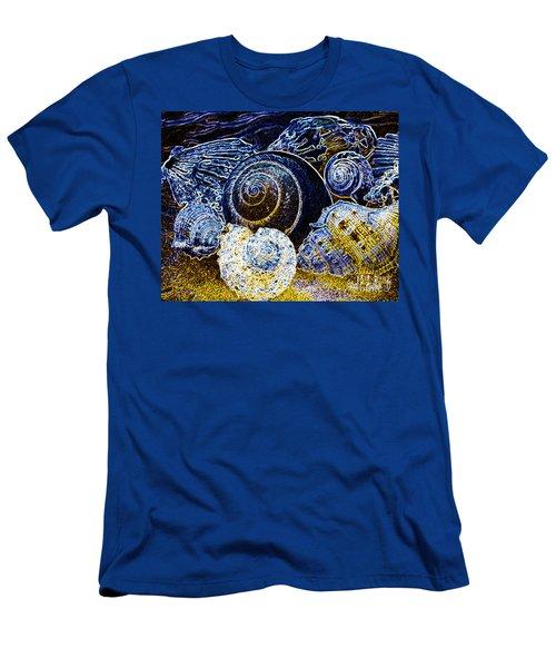 Abstract Seashell Art Men's T-Shirt (Slim Fit) by Carol F Austin