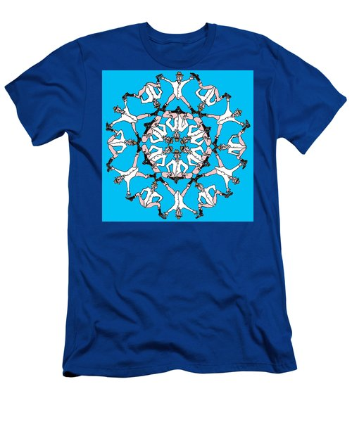 Men's T-Shirt (Slim Fit) featuring the drawing Kaleidoscoot by R  Allen Swezey