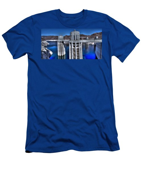 Lake Mead Hoover Dam Men's T-Shirt (Slim Fit) by Jonathan Davison