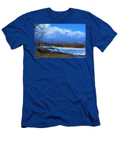 Landscape  Snow Scene Men's T-Shirt (Athletic Fit)