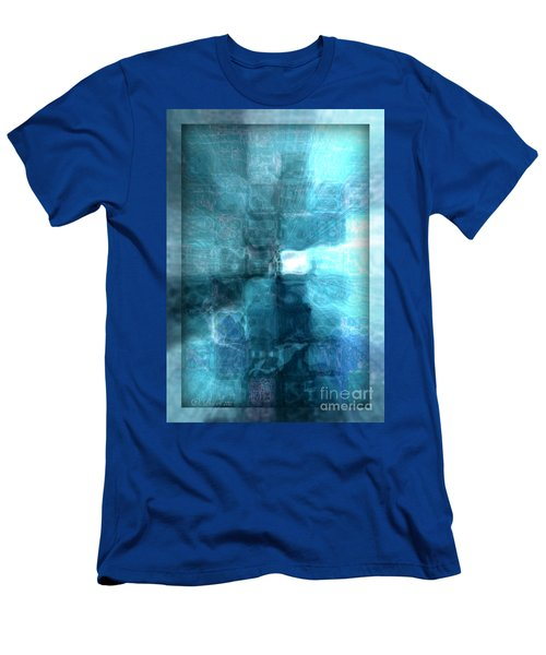 Men's T-Shirt (Athletic Fit) featuring the digital art Light At The End Of The Tunnel by Donna Bentley