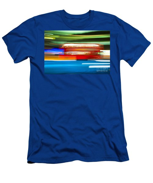Men's T-Shirt (Slim Fit) featuring the photograph London Bus Motion by Luciano Mortula