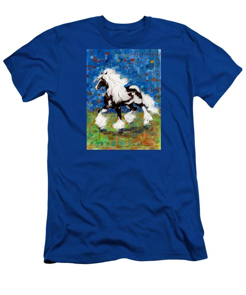 Men's T-Shirt (Slim Fit) featuring the painting Majestic One by Mary Armstrong