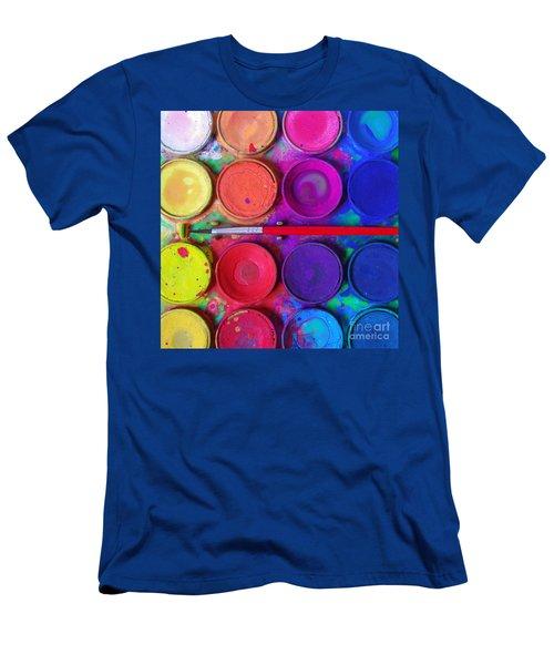 Messy Paints Men's T-Shirt (Athletic Fit)