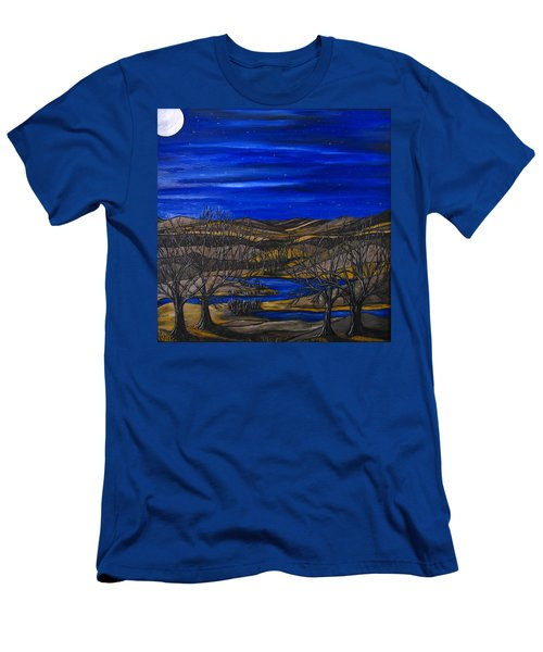 Moonlit Night Men's T-Shirt (Athletic Fit)
